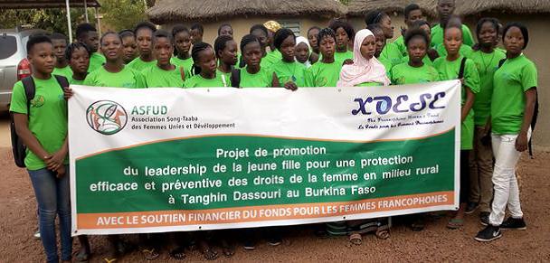 Projet de promotion du leadership de la jeune fille pour une protection efficace et préventive des droits de la femme en milieu rural à Tanghin-Dassouri