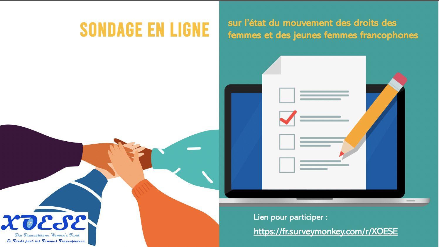 Etude sur l'état du mouvement des droits des femmes et des jeunes femmes francophones: PARTICIPEZ A L'ENQUETE!