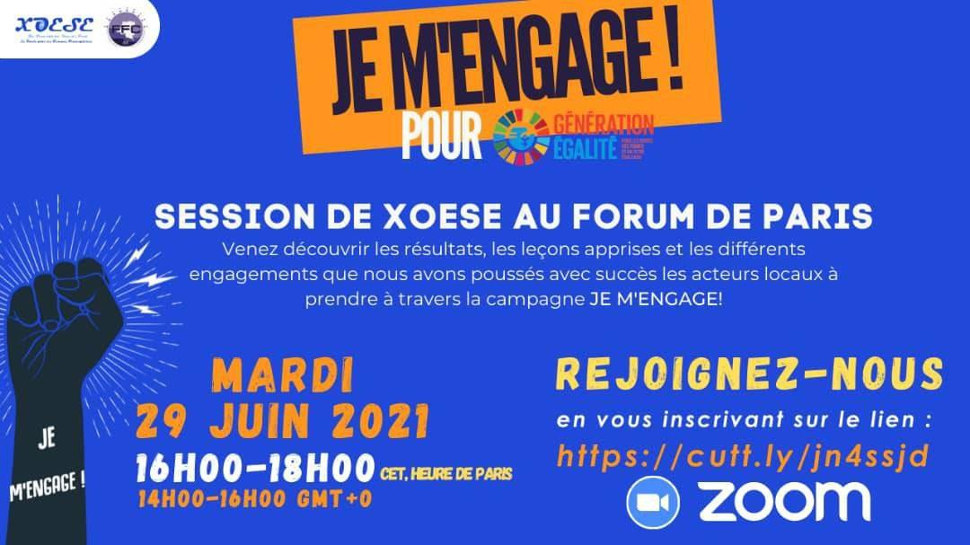 Récapitulatif du pré-événement de XOESE dans le cadre du Forum Génération Égalité
