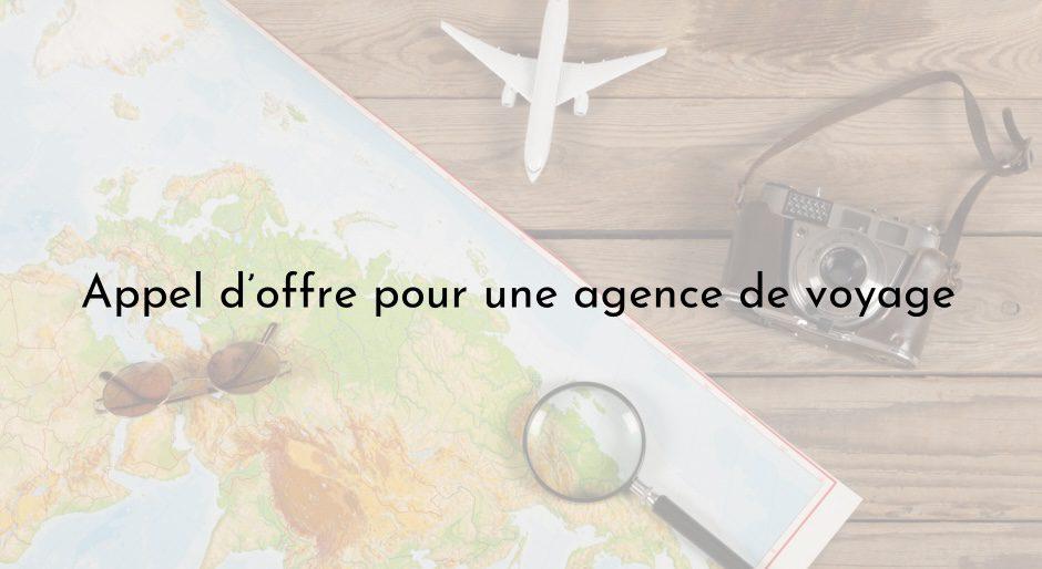 Avis d'appel d'offre pour le recrutement d'une agence de voyage pour acquisition de billets d'avion